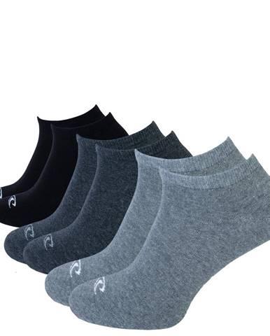 O'NEILL - 3PACK antracite členkové ponožky -35-38