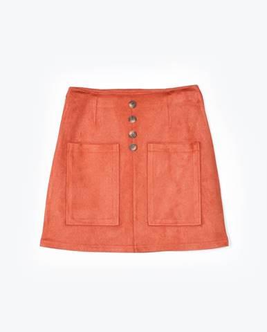Áčková mini sukňa s vreckami