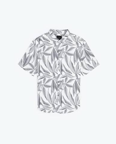 Viskózová košeľa s kvetinovou potlačou