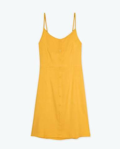 Viskózové šaty s odhaleným chrbtom