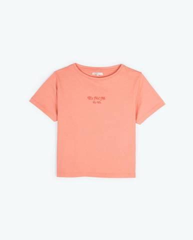 Krátke tričko s nápisom