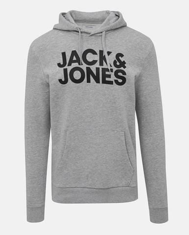 Šedá žíhaná mikina Jack & Jones Corp