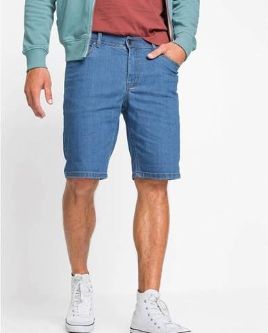 Udržateľné džínsové strečové bermudy s recyklovateľným polyesterom