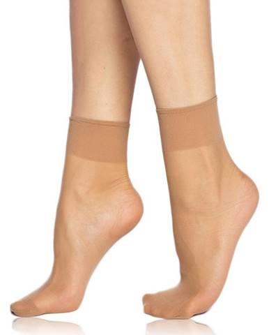 2 pack silinkových ponožiek  DIE PASST 20 DEN amber