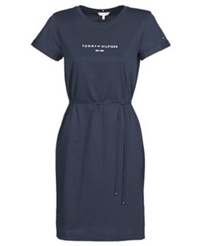 Krátke šaty Tommy Hilfiger  TH ESS HILFIGER REG C-NK DRS SS