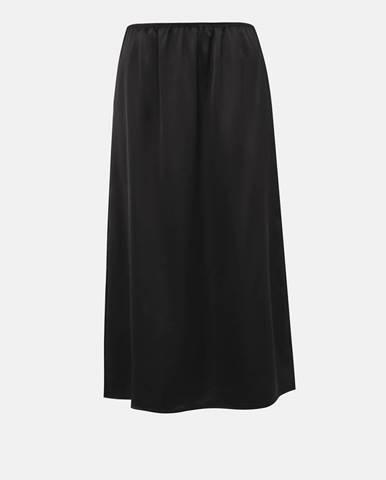 Čierna midi sukňa ONLY Mania