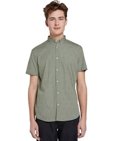 Zelená pánska vzorovaná košeľa Tom Tailor Denim