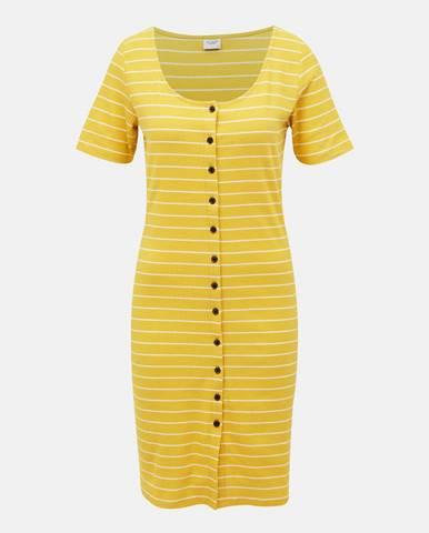 Žlté pruhované šaty Jacqueline de Yong Nevada
