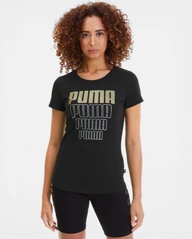 Puma Rebel Graphic Tričko Čierna