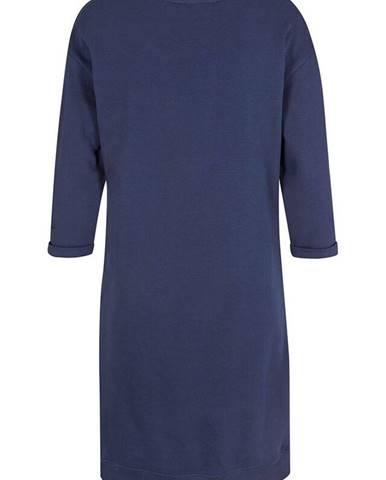 Mikinové šaty s U-výstrihom