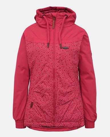 Tmavoružová dámska vzorovaná zimná bunda Alife and Kickin Black Mamba B