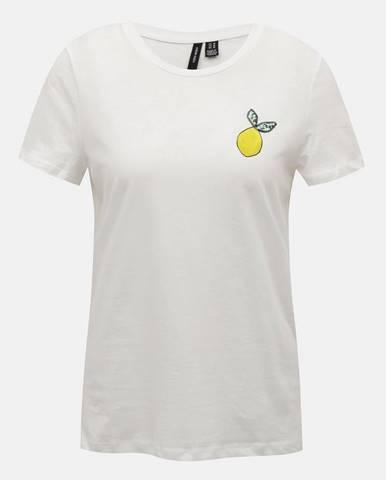 Biele tričko VERO MODA Francis