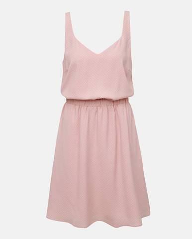Ružové vzorované šaty VILA Laia